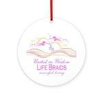 Life Braids Ornament (Round)