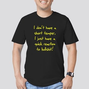 Dont Have A Short Temper Men's Fitted T-Shirt (dar