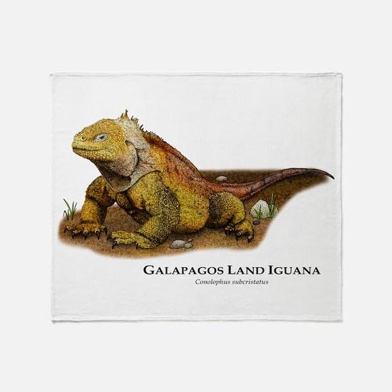 Galapagos Land Iguana Throw Blanket
