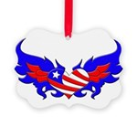 heartwings2 Picture Ornament