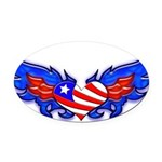 heartwings3a Oval Car Magnet