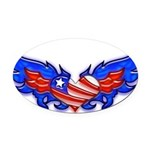 heartwings4a Oval Car Magnet
