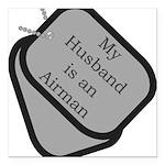 husbandariman Square Car Magnet 3