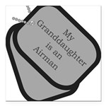 My Granddaughter is an Airman Square Car Magnet 3&