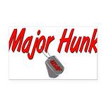 majorhunkusaf Rectangle Car Magnet