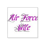 Air Force Wife Square Sticker 3