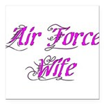 Air Force Wife Square Car Magnet 3