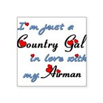 Country Gal Air Force Love Square Sticker 3