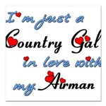 Country Gal Air Force Lo Square Car Magnet 3