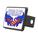 usafheartwing2 Rectangular Hitch Cover