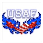 usafheartwing2 Square Car Magnet 3