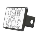 usafclawuncle2 Rectangular Hitch Cover