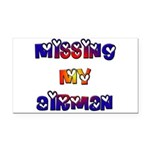 Missing my Airman Rectangle Car Magnet