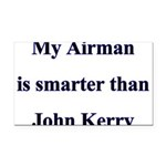 My Airman is smarter than Joh Rectangle Car Magnet