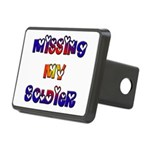 Missing My Soldier Rectangular Hitch Cover