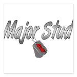majorstudarmy3 Square Car Magnet 3