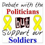 Debate Politicians Support So Square Car Magnet 3&