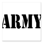 Army Square Car Magnet 3