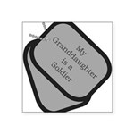 My Granddaughter is a Soldier Square Sticker 3&quo