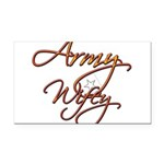 armywifey Rectangle Car Magnet