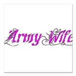 Army Wife Square Car Magnet 3