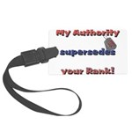 Army Wife Authority Large Luggage Tag