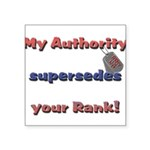 Army Wife Authority Square Sticker 3