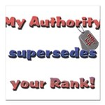 Army Wife Authority Square Car Magnet 3