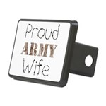 Proud Army Wife ver2 Rectangular Hitch Cover