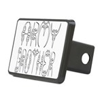armyclawbrother2 Rectangular Hitch Cover