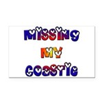 Missing my Coastie Rectangle Car Magnet