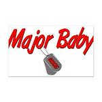 majorbabyuscg Rectangle Car Magnet