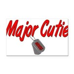 majorcutieuscg Rectangle Car Magnet