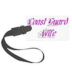Coast Guard Wife Large Luggage Tag