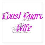 Coast Guard Wife Square Car Magnet 3