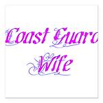 Coast Guard Wife ver2 Square Car Magnet 3