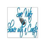 savewatercoastie2 Square Sticker 3
