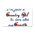 Country Gal Coastie Love Rectangle Car Magnet