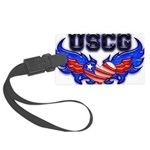 uscgheartwing2 Large Luggage Tag