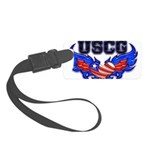 uscgheartwing2 Small Luggage Tag