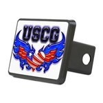 uscgheartwing2 Rectangular Hitch Cover
