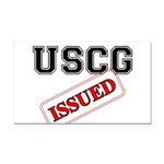 USCG Issued Rectangle Car Magnet