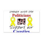Debate Politicians Support ou Rectangle Car Magnet