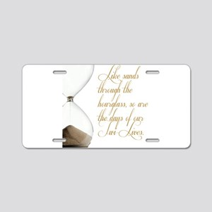 Days of our Twi-Lives Aluminum License Plate