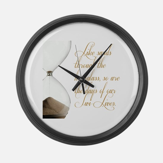 Days of our Twi-Lives Large Wall Clock