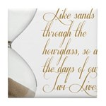 Days of our Twi-Lives Tile Coaster