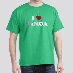 I Love Samoa Dark T-Shirt