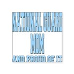 National Guard Mom Proud Square Sticker 3