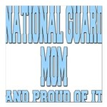 National Guard Mom Proud Square Car Magnet 3
