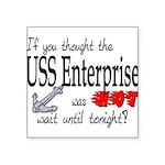 ussenterprisewashotanchor Square Sticker 3